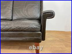 Vintage Danish MID Century Georg Thams 3 Person Sofa In Coco Leather 1960