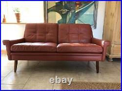 Vintage Danish MID Century Svend Skipper 2 Person Sofa 1966