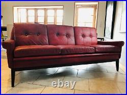 Vintage Danish MID Century Svend Skipper 3 Person Sofa 1969