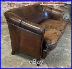 Vintage Dutch Leather Sofa