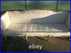 Vintage French Provincial Shabby Chic Sofa Couch 84 Single Cushion