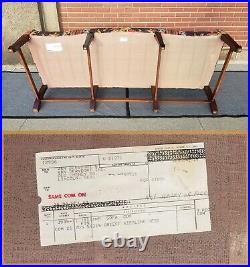 Vintage HICKORY CHAIR CO Chippendale Camelback 8 Leg Sofa-Nice