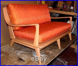 Vintage Hard To Find Heywood Wakefield Settee Couch MID Century Modern