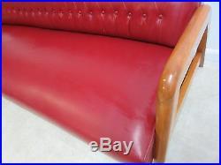 Vintage Heywood Wakefield Tufted Mid Century Sofa Settee Couch