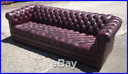 Vintage High Quality Chesterfield Leather Sofa