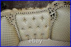 Vintage Large Carved Ornate Italian Provincial Style Sofa