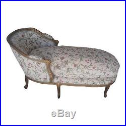 Vintage Luis Xv Style French Country Chaise Lounge