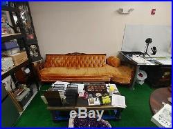 Vintage MCM Hollywood Regency Couch Sofa Orange
