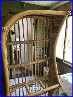 Vintage MCM Rattan Bamboo Sofa