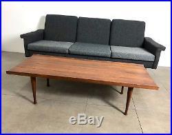 Vintage Mid Century Danish Modern Teak Westnofa Couch Sofa Ohlsson Wegner Era
