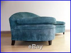 Vintage Mid Century Green Sofa, Style of Vladimir Kagan