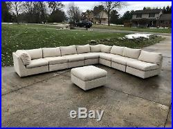 Vintage Mid Century Large Sectional Sofa Baughman Style