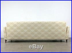 Vintage Mid Century Modern 84 Rare Edward Wormley Dunbar Sofa Couch Open Arm