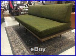 Vintage Mid Century Modern Couch Sofa Futon Green Original
