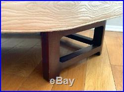 Vintage Mid Century Modern Edward Wormley Janus Angled Sofa Settee 6329 Mahogany