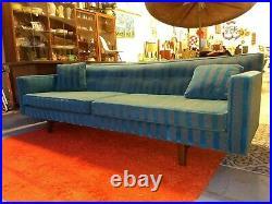 Vintage Mid Century Modern Rare Edward Wormley Dunbar Floating Back Bracket Sofa