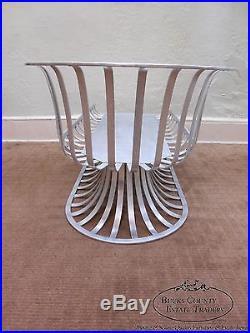 Vintage Mid Century Modern Russell Woodard Aluminum Chaise Lounge