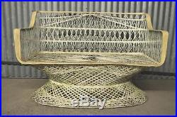 Vintage Mid Century Modern Russell Woodard Spun Fiberglass Loveseat Settee Chair