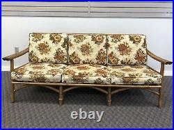 Vintage Mid Century Modern SOFA Ficks Reed bamboo bentwood boho chic couch 60s
