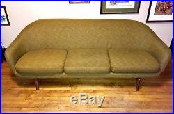 Vintage Mid Century Modern Tweed Couch Sofa 1950-1960 Viko