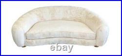 Vintage Mid Century Off-White Polar Bear Style Sofa