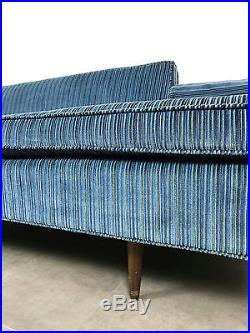 Vintage Milo Baughman Blue Curved Mid Century Modern Sectional Sofa Coggin James