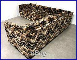 Vintage Milo Baughman Jack Larsen Style Tuxedo Sectional Sofa Mid Century Modern