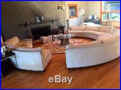 Vintage Milo Baughman Thayer Coggin Circular Round Sofa Sectional MID  Century