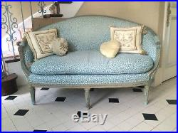 Vintage Painted French Louis XV Style Settee Loveseat