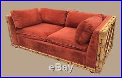 Vintage REAL Bamboo Furniture Sofa