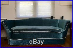 Vintage Regency Draper Style Sofa Couch Mid Century Modern Hollywood Glamour
