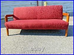 Vintage Thonet Russel Wright Sofa unique fabric