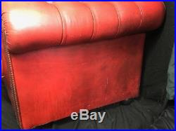 Vintage Traditional Handmade Chesterfield Style Leather Sofa 3 Seater Oxblood