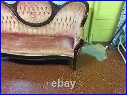 Vintage Victorian Sofa CARLTON Mc LENDON FURNITURE CO, ALA, 0riginal Tag Attache