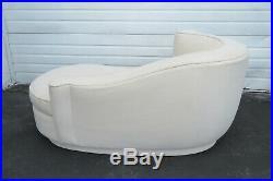 Vintage Vladimir Kagan Style Serpentine Curved Chaise Lounge 1248