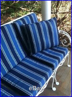 Vintage Woodard Salterini Professionally POWDERCOATED Wrought Iron Patio Sofa