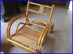 Vintage (ficks Reed) Rattan Bamboo 6 Piece