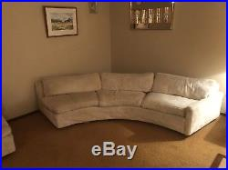 Vintage original white faux fur couch set made by Thayer Coggin Inc. Circa 1965