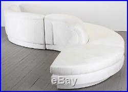 Vladimir Kagan Style 3 Piece Sectional Sofa, 1980s