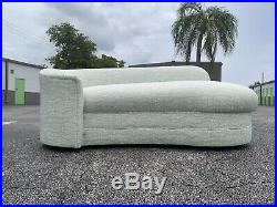 Vladimir Kagan Style Petite Serpentine Cloud Sofa