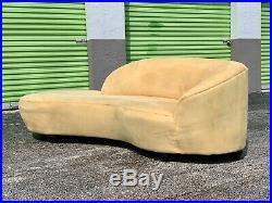 Vladimir Kagan Style Serpentine Tan Cloud Sofa