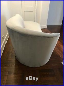 Vladimir Kagan-Weiman Curved Serpentine Chaise Modern Contemporary Kidney Sofa