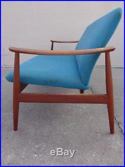 Vtg Danish Modern Teak Sofa By Finn Juhl / France & Daverkosen John Stuart MCM