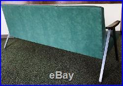 Vtg MCM Royal Chrome Metal Sofa Love Seat Couch Aluminum Vinyl Naugahyde Deco