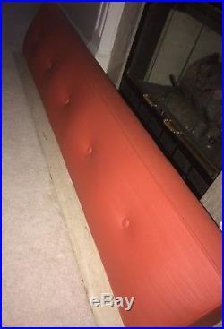 Vtg Mid Century Vinyl Couch Sofa Daybed. Orange, EXCELLENT condition