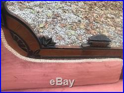 Walnut Victorian Fainting Couch