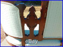 Walnut Victorian SofaLadies ChairGentlemans Chair Circa 1875