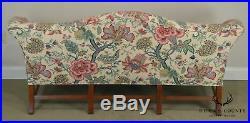 Williamsburg Style Custom Upholstered Camel Back Sofa