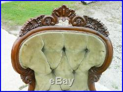 Wonderful Mahogany Empire Victorian Lounge Recamier Sofa circa 1850