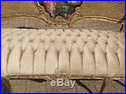 Wonderfully Decorated Louis XVI Sofa/love Seat/settee Worldwide Shipping